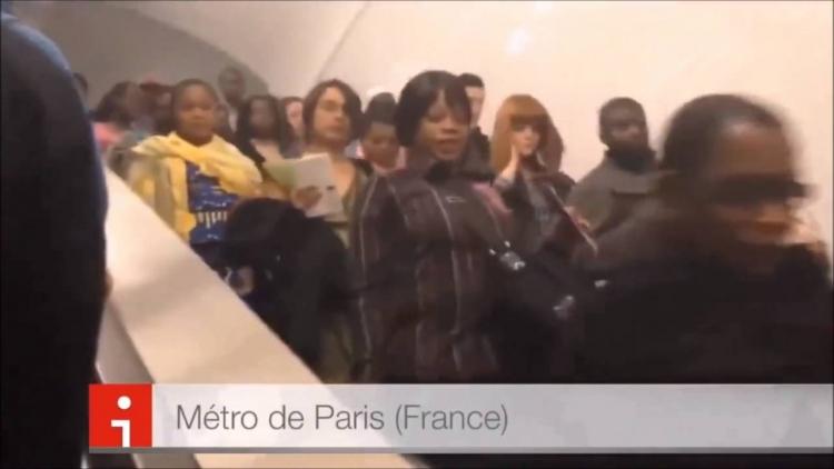 Tak to je síla. Metro v Paříži a Moskvě...