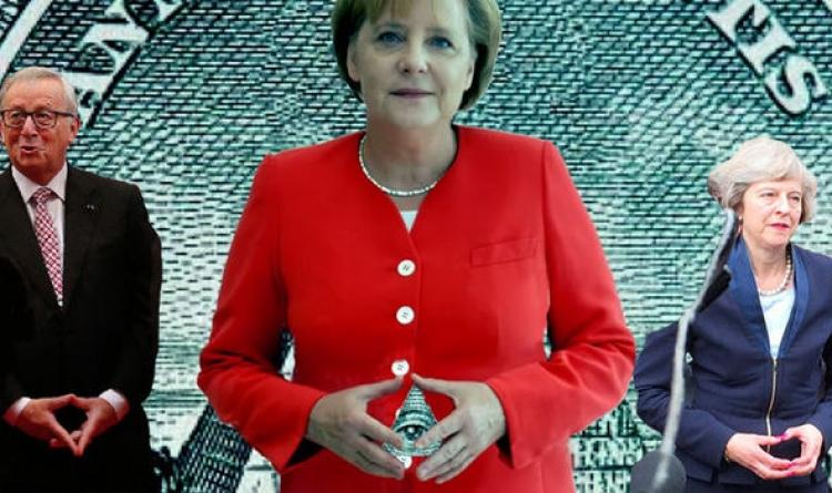 Patří Merkelová k zednářům a illuminátům? Britský deník zkoumal podivné fotografie...