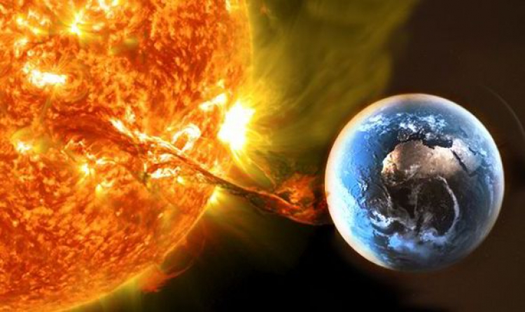 Tryskající světelná záře z obrovské sluneční erupce může způsobit totální blackout