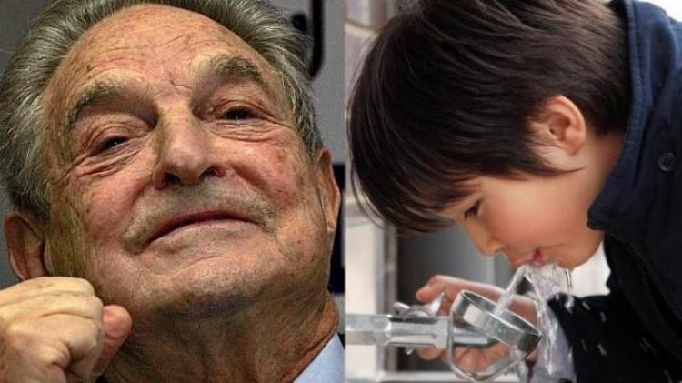 George Soros chce přidávat fluorid do pitné vody ve školách. Z Ruska přišla reakce