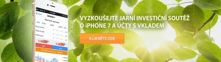 Obchodujte svirtuálním milionem v jarní investiční soutěži o iPhone 7