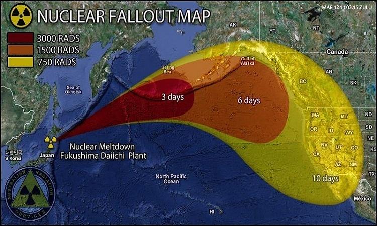 Radiakce z Fukušimy se od roku 2011 rovná 10ti hirošimským bombám každou hodinu