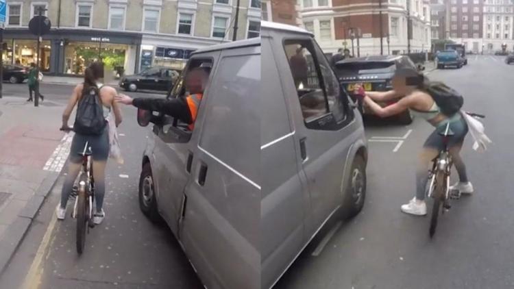 Cyklistka byla obtěžována dělníky v dodávce. Ta jim předvedla, že se poněkud přepočítali...