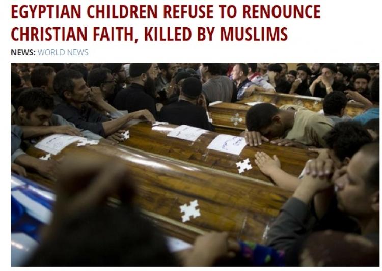 Zavraždění koptských křesťanů. I děti odmítli zapřít křesťanskou víru - byli zastřeleni jeden po druhém...