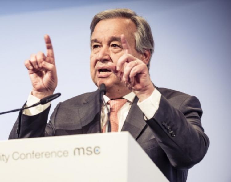 Šéf OSN Guterres slíbil po koronaviru svět přebudovat na nový lepší, hezčí, zelený, bezuhlíkový, pokrokový. Má to jeden háček...