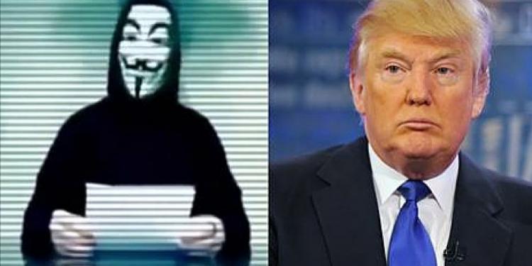Hackeři Anonymous (organizovaní elitami z USA) vyšli do boje proti Donaldu Trumpovi