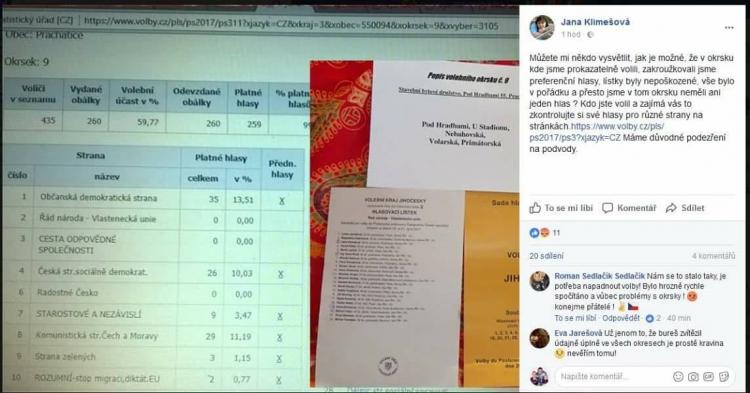 Zmanipulované volby? Lidé přinášejí důkazy na sociálních sítích o otázky, na které nemají odpovědi