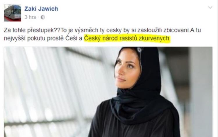 """Přijali jsme muslima ze Sýrie. Zabil Čecha a teď nadává národu českému do """"rasistů zkur…"""""""