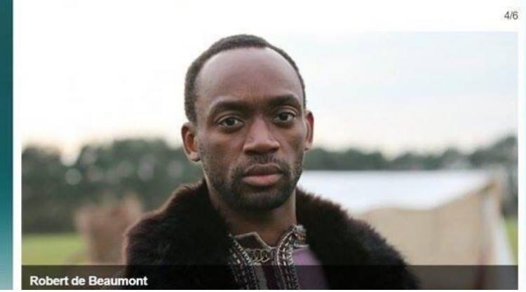 Britská BBC manipuluje s historií. Francouzského rytíře Roberta de Beaumonta hraje černoch