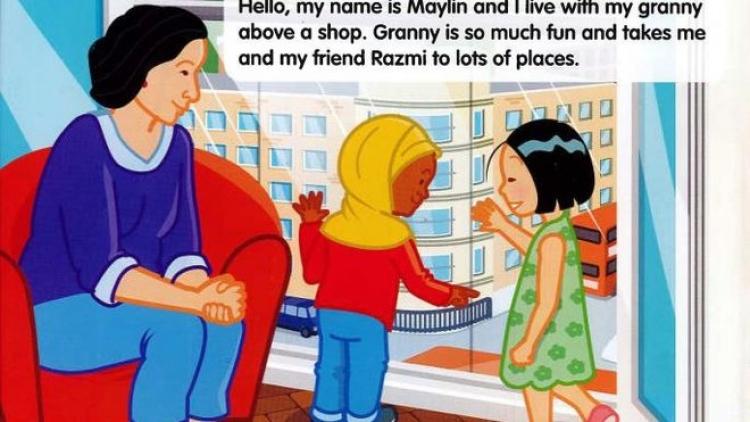 Obrázek s čtyřletou dívkou v hidžábu vyvolal v Londýně poprask
