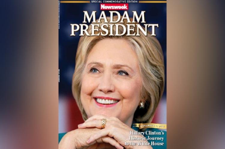 """Newsweek zná předem výsledky voleb a je rozhodnuto? Distribuoval k prodeji speciální vydání """"Paní prezidentka Clintonová"""""""