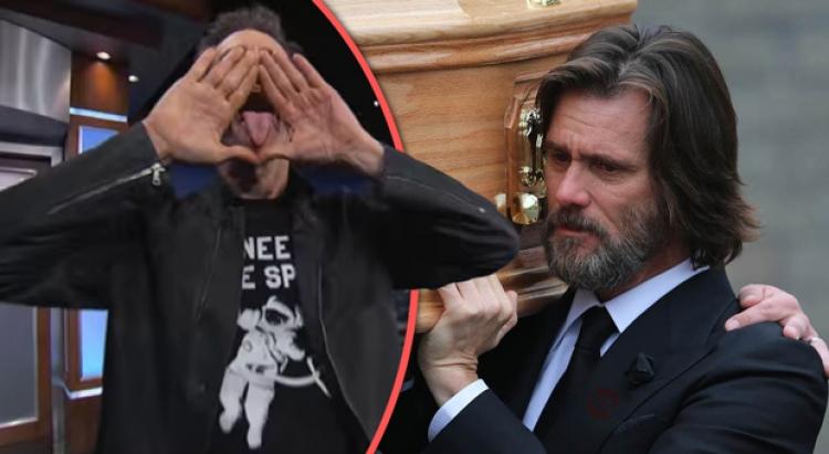 Jim Carrey falešně obviněn z vraždy přítelkyně poté, co prozradil tajemství Iluminátů