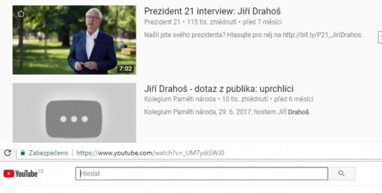 Někdo maže videa ukazující, že Drahoš chce přijmout tisíce muslimských uprchlíků! Bojí se reakce občanů?!