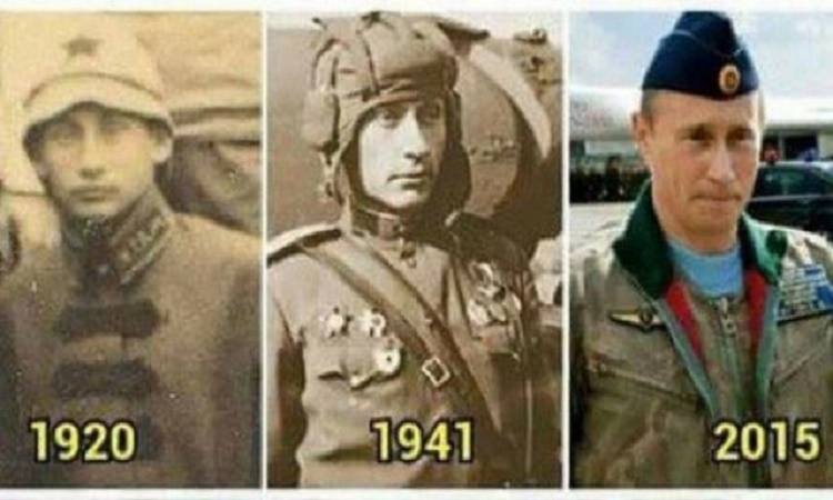 Je Vladimir Putin nesmrtelný? Fotografie ruského prezidenta ze stoleté minulosti