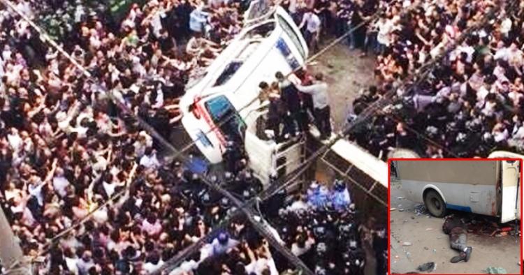 """Tisíce rozhněvaných lidí v Číně ukamenovaly """"vládní hrdlořezy"""" v reakci na policejní brutalitu"""