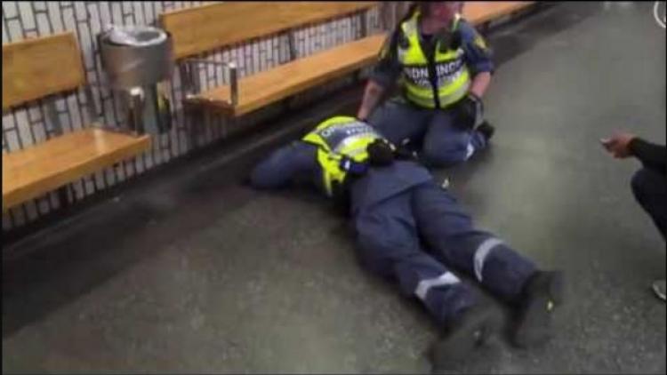 VIDEO: Afričtí migranti brutálně zbili do bezvědomí policistu ve stockholmském metru