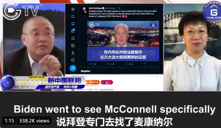 Biden připustí porážku, pokud mu bude zaručena imunita, uvedla čínská televize G