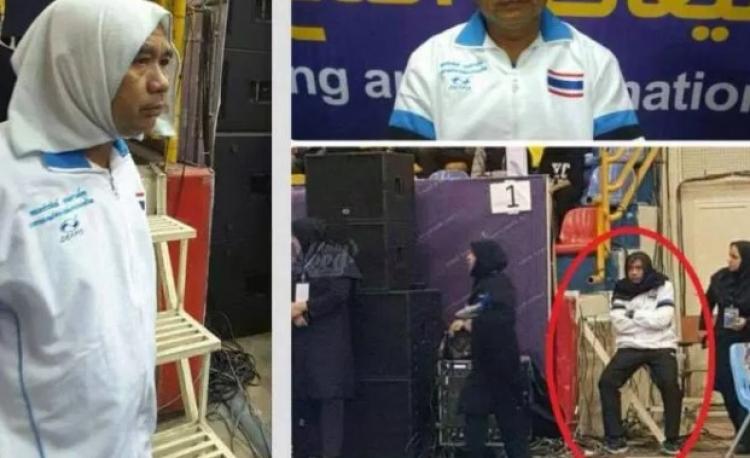 Trenér thajské reprezentace si v Iránu musel navléci šátek, aby mohl mluvit s hráčkami