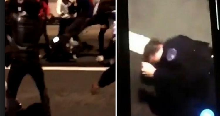 Dramatické video: Dav z pařížského předměstí lynčoval policistku. Na Nový rok shořelo rekordně 1000 aut