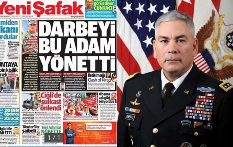 A je to tady. Turecko obvinilo amerického generála, že rozeslal 2 miliardy dolarů tureckým pučistům ke svržení Erdogana