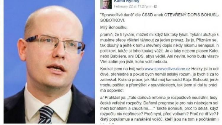 Nejsdílenější komentář českého Facebooku: Učíme Sobotku počítat!